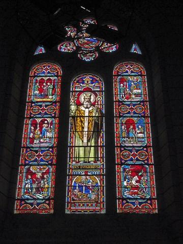 Vitraux de l'église Sainte-maure et Sainte-Britte © Dominique Merel